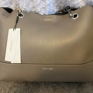 Calvin Klein Large Gray Shoulder Bag/Tote
